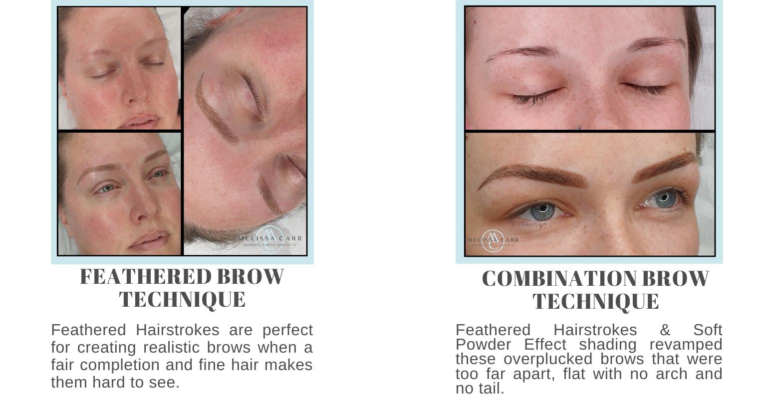 Fair Eyebrows & overplucked eyebrows tattooed